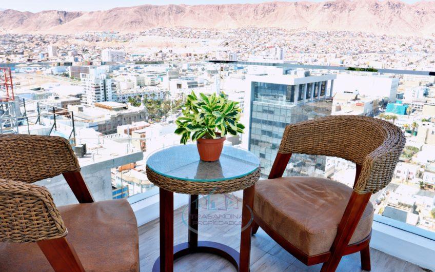 IMPECABLE DEPARTAMENTO AMOBLADO 1 dormitorio Frente a Mall Plaza Antofagasta